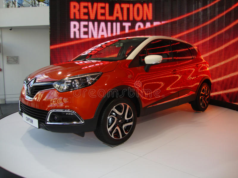 Download Beautiful Orange Renault editorial stock photo. Image of champs - 29946753