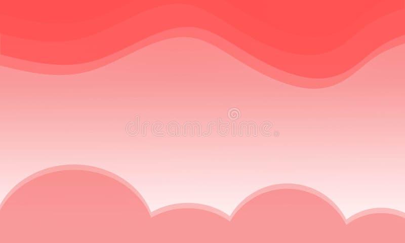 Beautiful orange sky background and orange clouds stock illustration