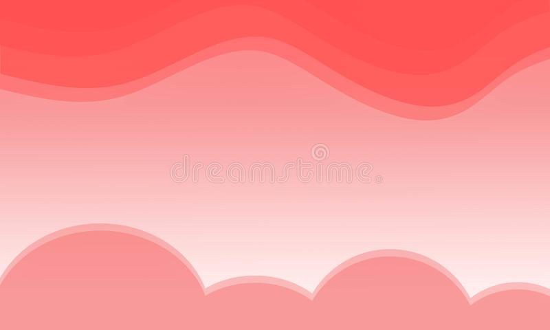 Beautiful orange sky background and orange clouds vector illustration