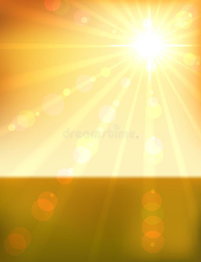 Download Beautiful orange sunset stock vector. Image of eps10 - 28572876
