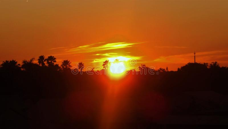 Beautiful Orange Sunset stock photos