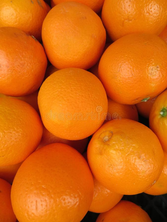 Beautiful oranges from an incredible color and a delicious flavor royalty free stock photography