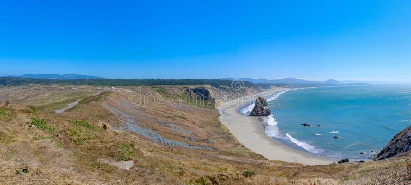 Beautiful Oregon Pacific Coastline. Near Bandon, Oregon, USA royalty free stock image