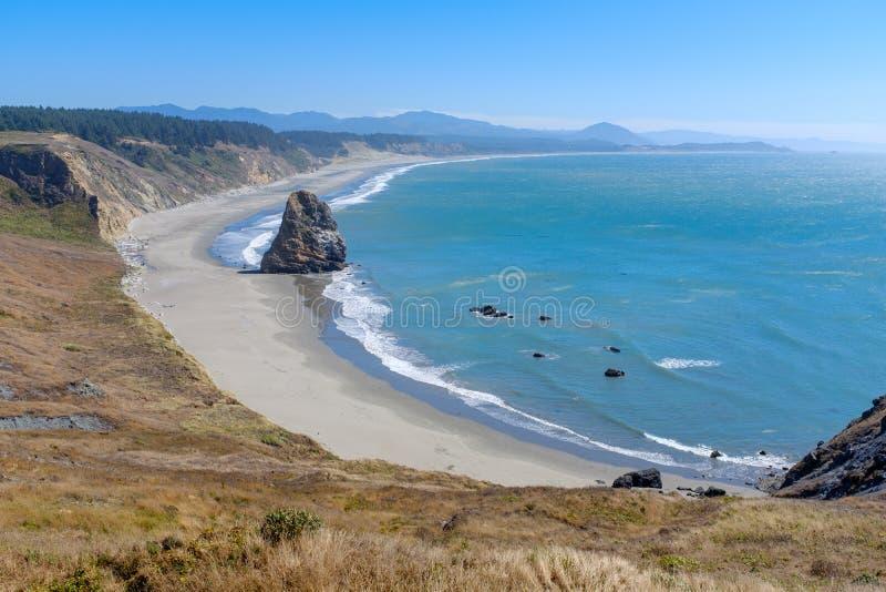 Beautiful Oregon Pacific Coastline. Near Bandon, Oregon, USA royalty free stock photo