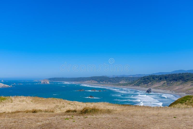 Beautiful Oregon Pacific Coastline. Near Bandon, Oregon, USA royalty free stock photography