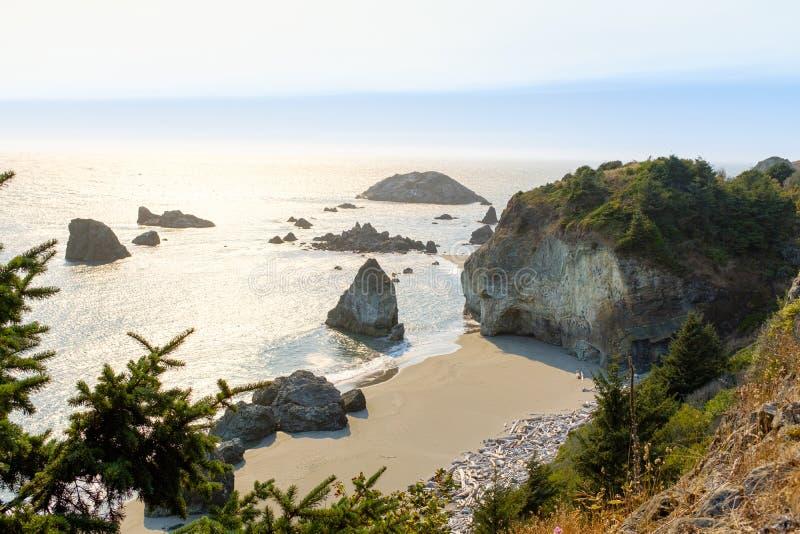 Beautiful Oregon Pacific Coastline. In Oregon, USA royalty free stock image