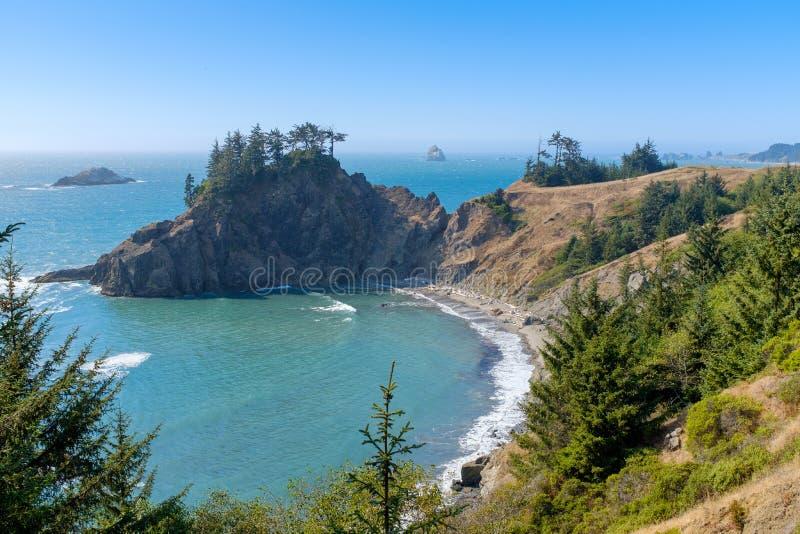 Beautiful Oregon Pacific Coastline. In Oregon, USA stock photography