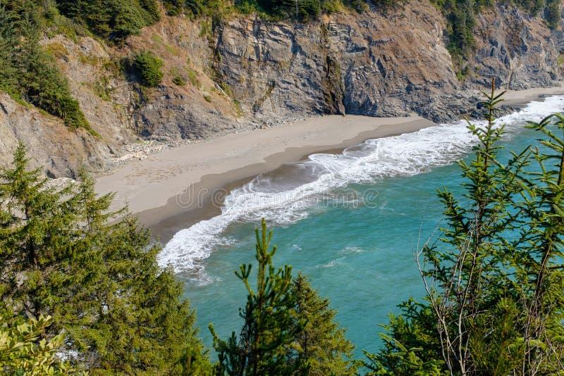 Beautiful Oregon Pacific Coastline. In Oregon, USA royalty free stock photo