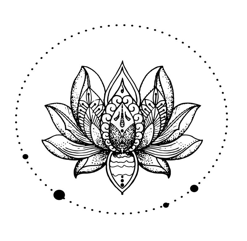 Beautiful oriental detailed lotus flower stylish idea of tattoo download beautiful oriental detailed lotus flower stylish idea of tattoo stock vector mightylinksfo