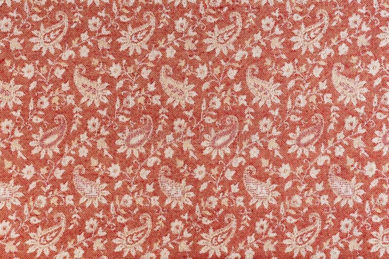Beautiful oriental fabric background. Traditional Arabic pattern on fabric.  royalty free stock photo