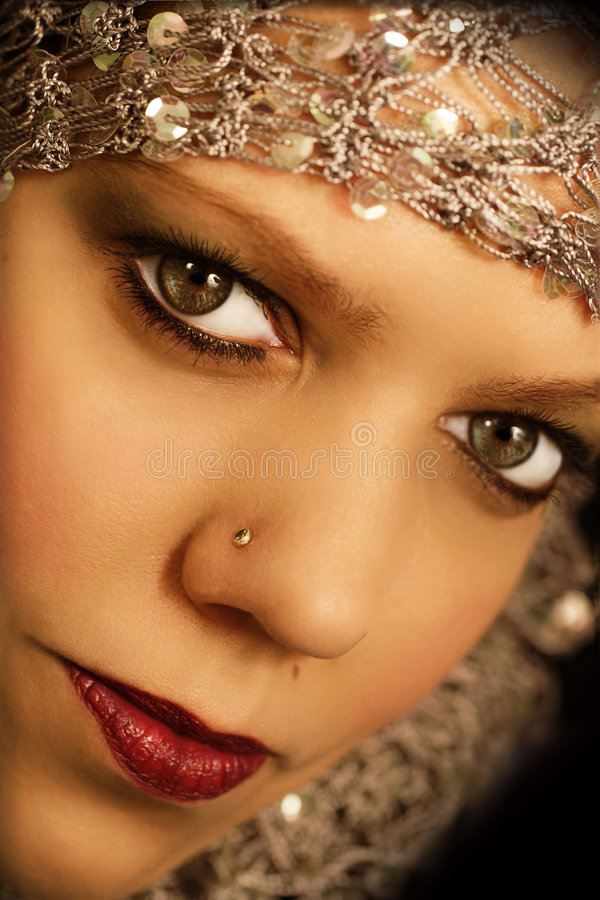 Beautiful oriental woman royalty free stock images