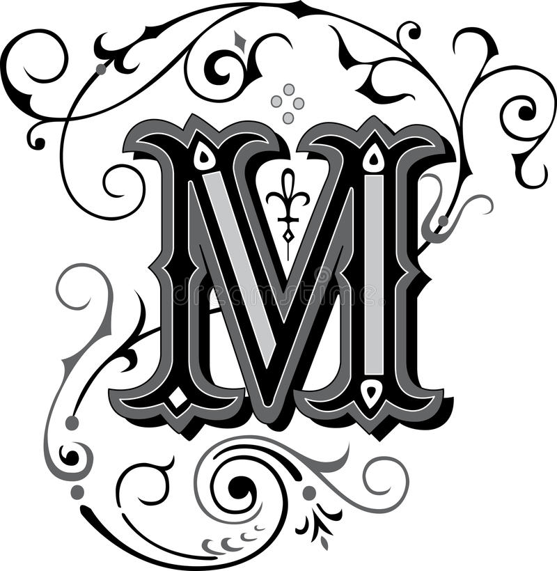 beautiful ornate alphabets letter s grayscale beautiful ornament letter m stock vector image 38517972 939