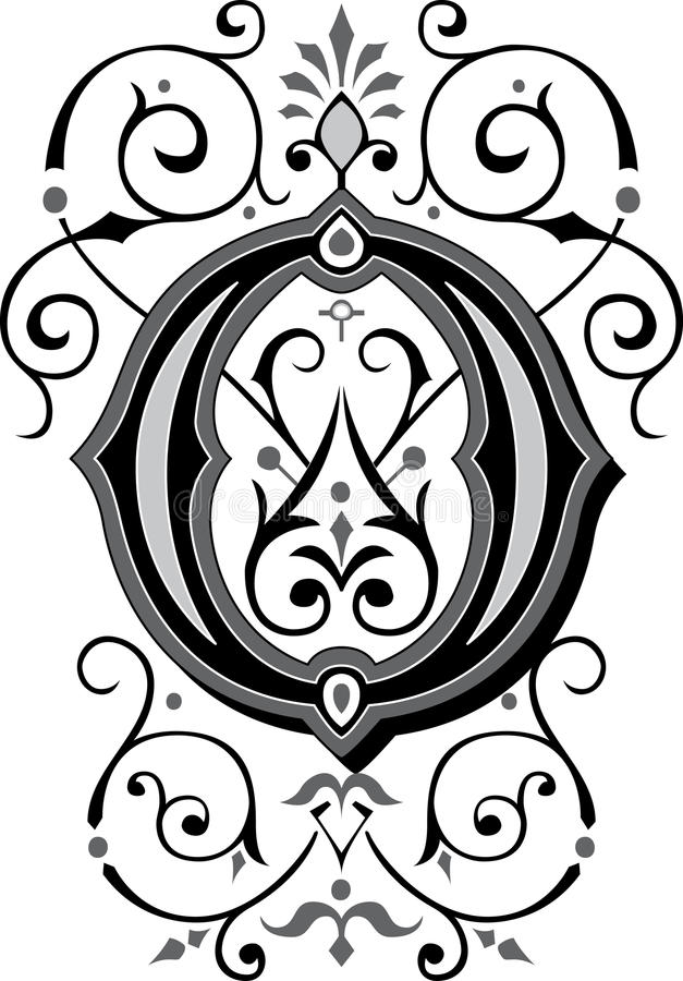 beautiful ornate alphabets letter s grayscale beautiful ornament letter o stock vector illustration 939