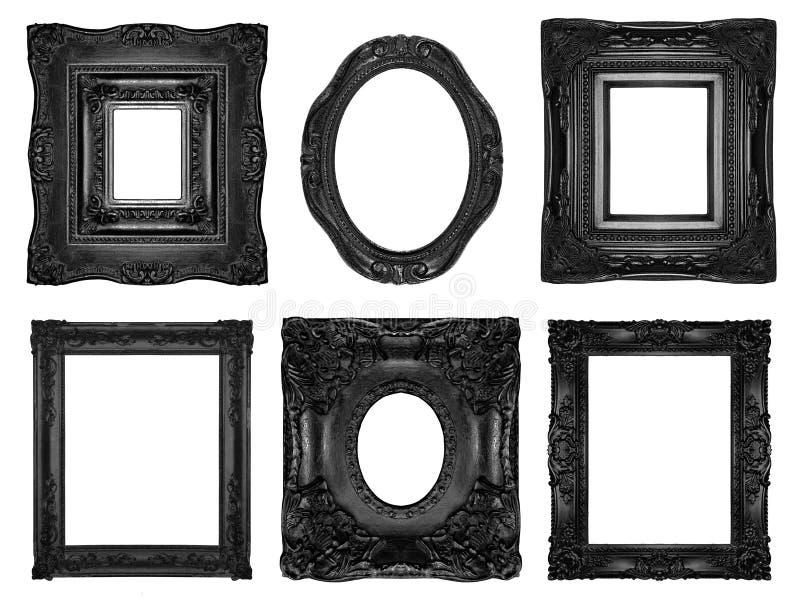 Beautiful ornate frames royalty free stock photos