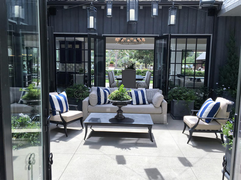 Beautiful Outdoor Patio - Courtyard royalty free stock photography