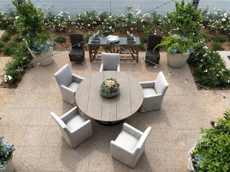 Beautiful Outdoor Patio stock images