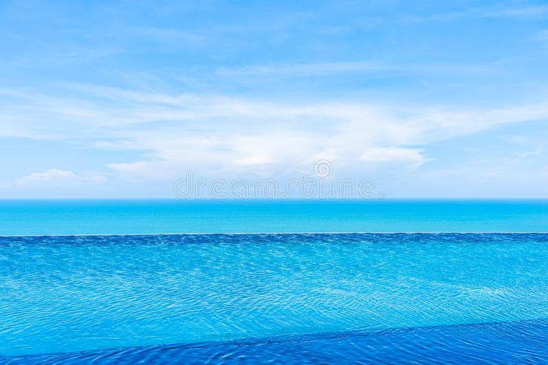 Beautiful outdoor swimming pool in hotel and resort. For leisure travel and vacation stock images