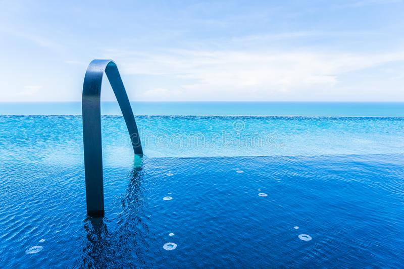 Beautiful outdoor swimming pool in hotel and resort. For leisure travel and vacation royalty free stock image