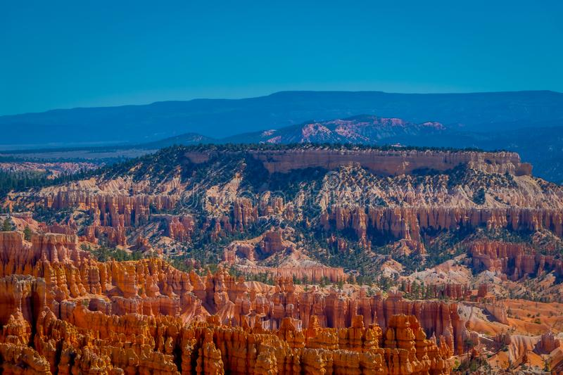 Beautiful outdoor view of Hoodoo landscape of Bryce Canyon National Park royalty free stock photography