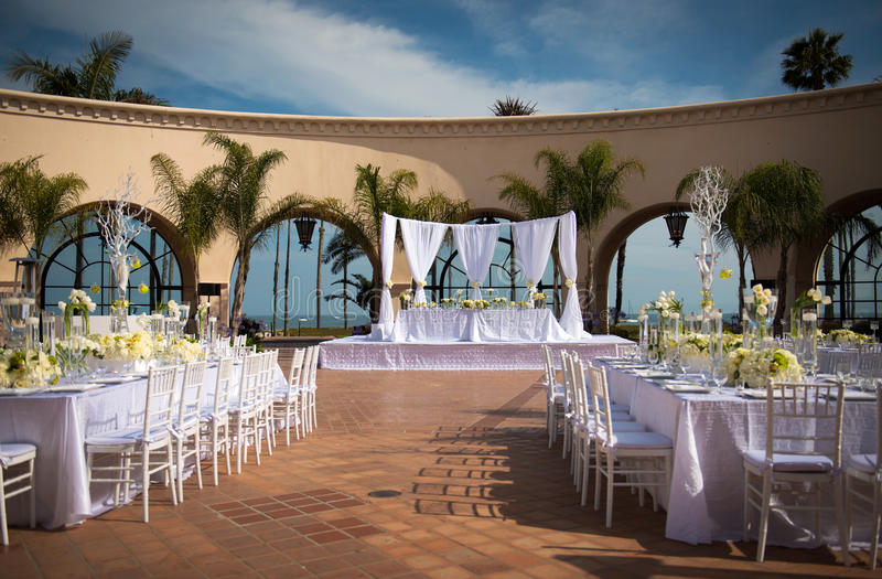 Download Beautiful Outdoor Wedding Venue Stock Photo   Image Of Luxury,  Celebration: 33490268