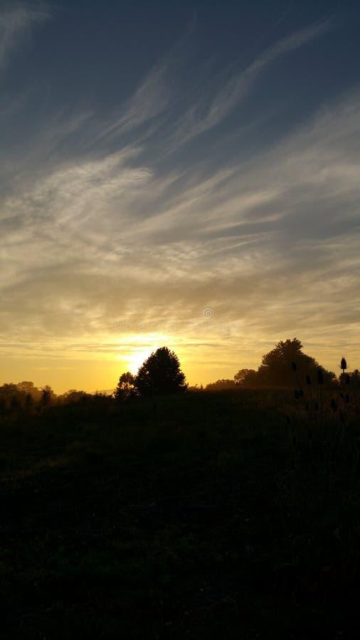 Beautiful PA sunrise stock photography