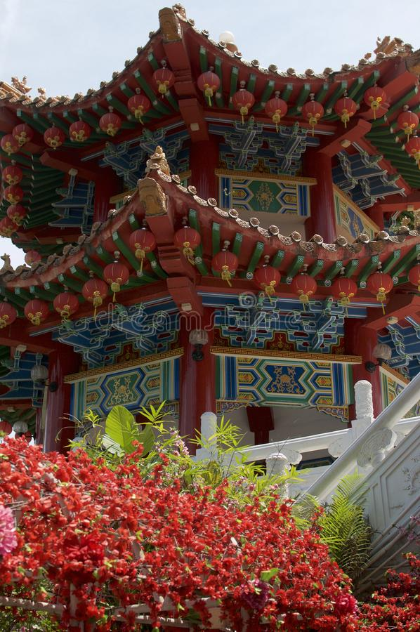 Beautiful Pagoda of Thean Hou temple royalty free stock images