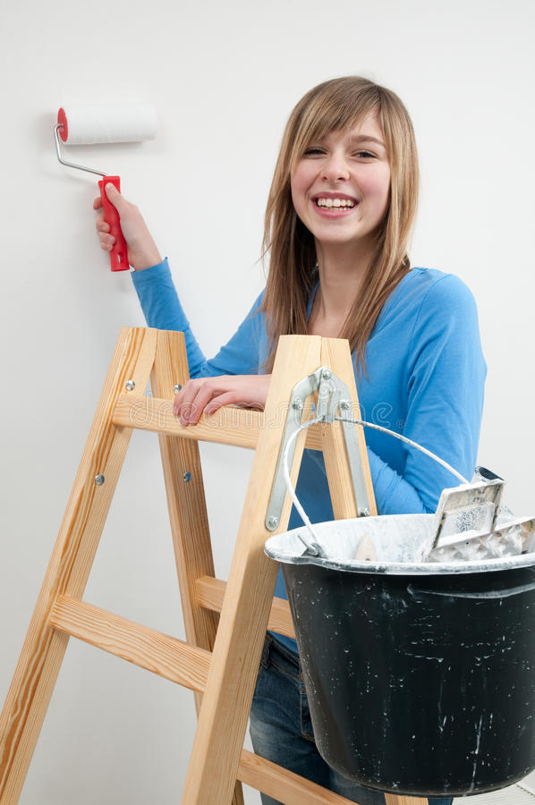 Download Beautiful painter stock image. Image of paint, happiness - 12799625