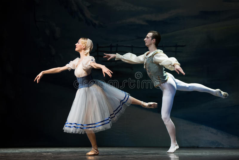 Beautiful pair in Christmas magic-fantasy ballet The Nutcracker stock photography