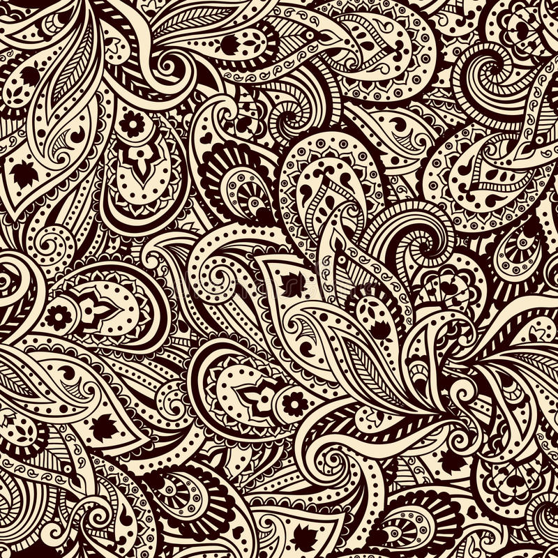 Beautiful paisley pattern royalty free illustration