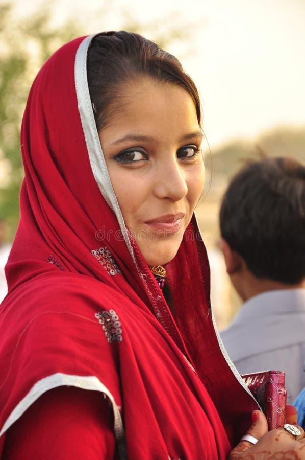 Beautiful pakistani young girl stock photo