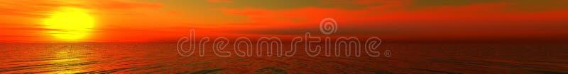 Beautiful panorama. Calling at sun on sea stock photos