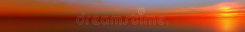 Beautiful panorama. Calling at sun on sea stock images