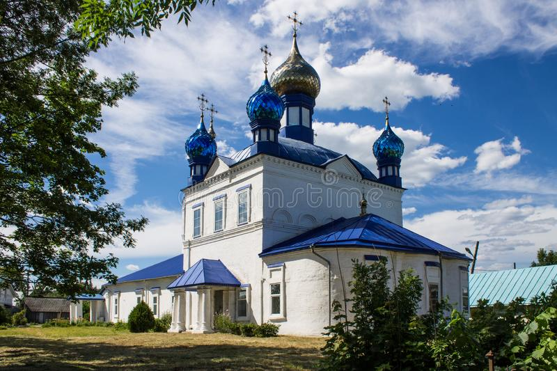 Panorama of Gorokhovets in Russia on a clear summer day. Beautiful panorama of Gorokhovets Russia on a clear summer day with sights stock photos