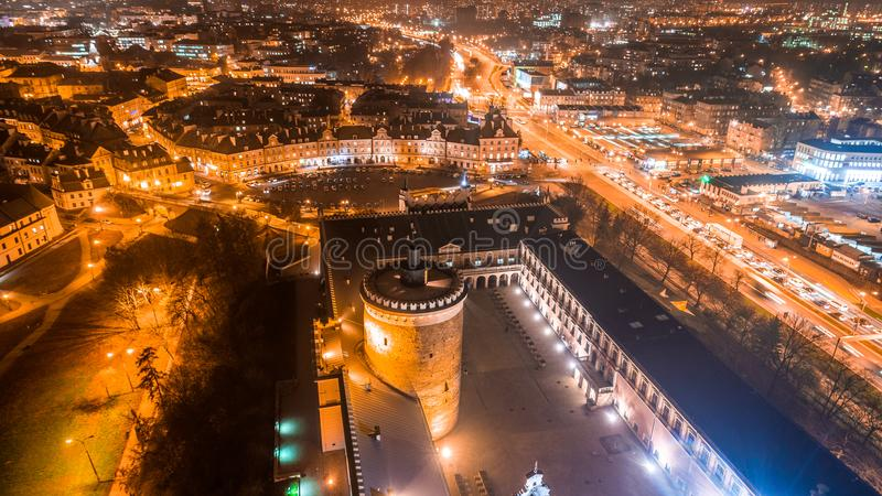 The beautiful panorama of Lublin royalty free stock photography