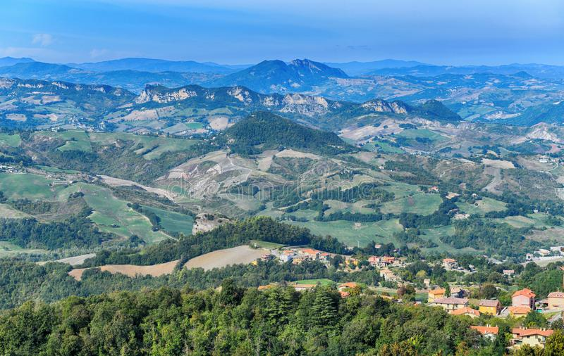 Beautiful panorama of Republic of San Marino royalty free stock image