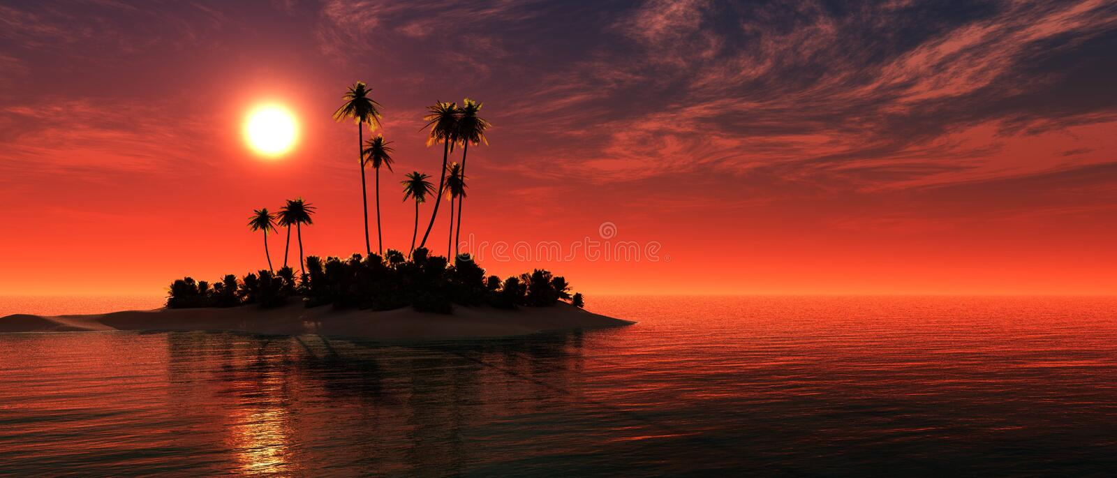 Beautiful panorama of the sea at sunset,g stock image