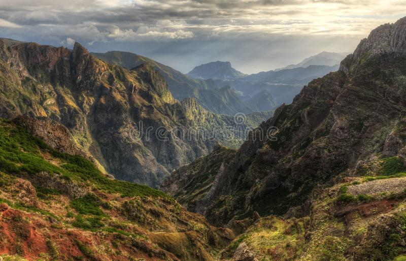 Pico do Arieiro valley stock image