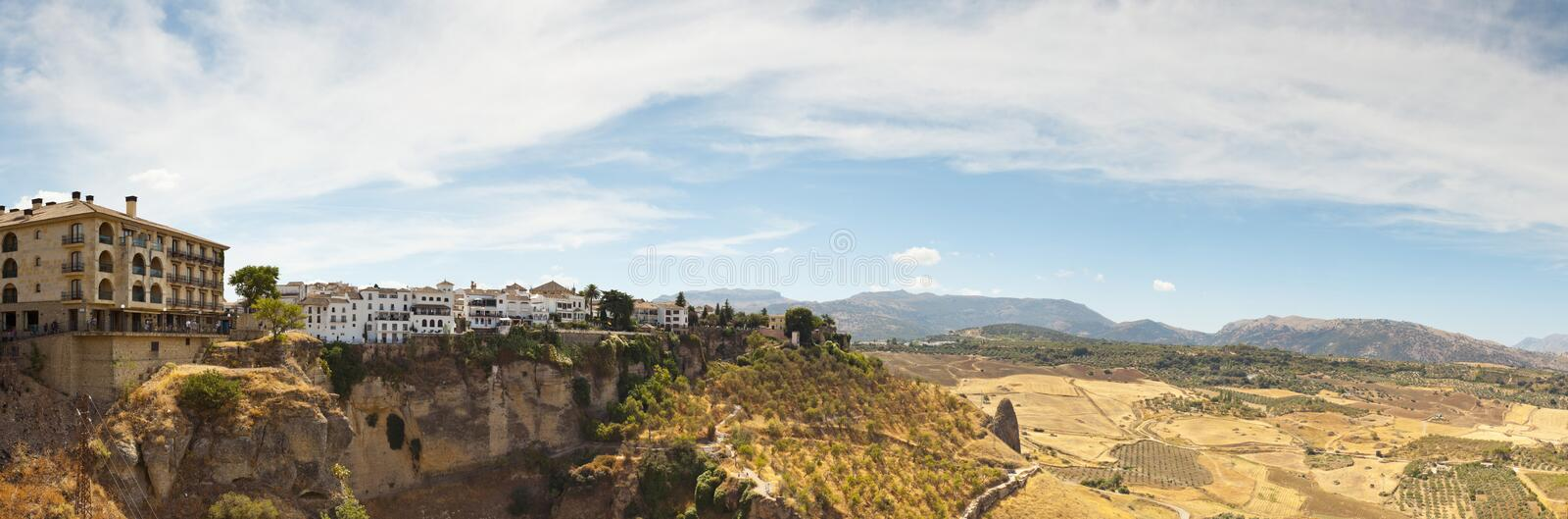 Beautiful panoramic photo of the city Ronda. royalty free stock photo