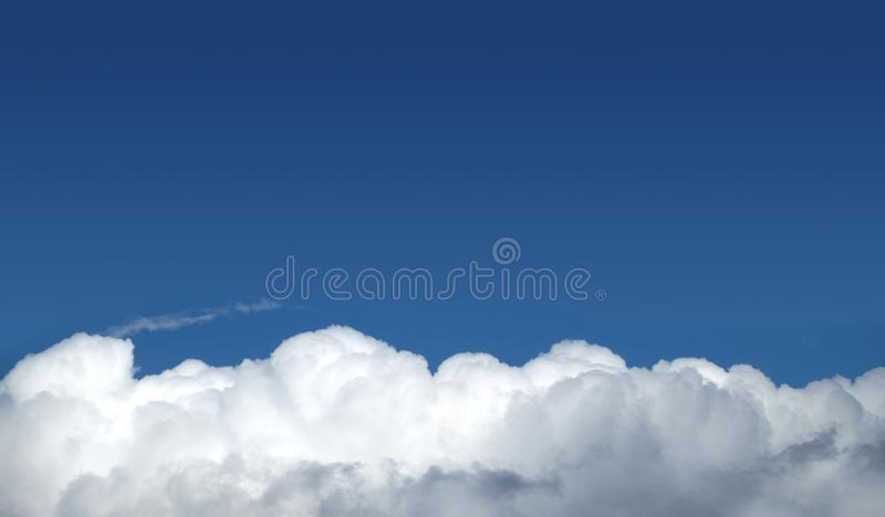 Beautiful landscape with skies and white clouds stock photos