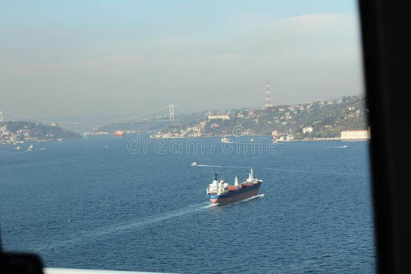 Beautiful panoramic view of the coast of Antalya stock image