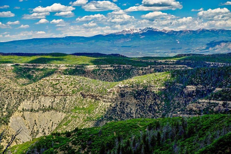 Beautiful Panoramic View of Colorado Mountains royalty free stock photos