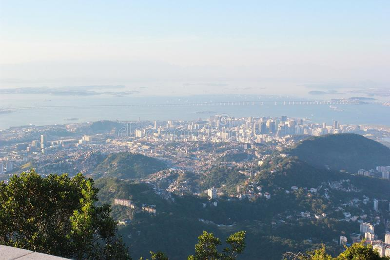 View of Rio de Janeiro from the top royalty free stock photos