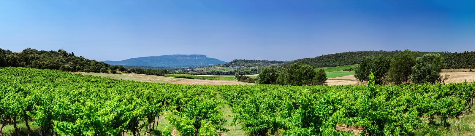 Beautiful panoramic view of Montagne Sainte-Victoire, Provence stock photos