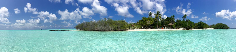Beautiful panoramic view of Rasdhoo Island, Maldives.  stock photography