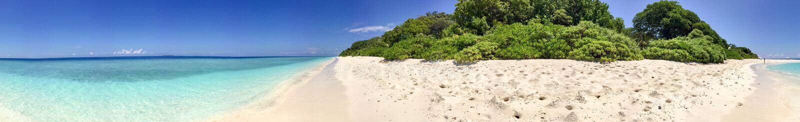 Beautiful panoramic view of Rasdhoo Island, Maldives.  stock photos
