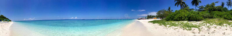 Beautiful panoramic view of Rasdhoo Island, Maldives.  royalty free stock images