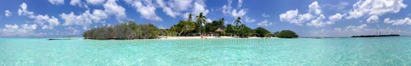 Beautiful panoramic view of Rasdhoo Island, Maldives.  royalty free stock photo
