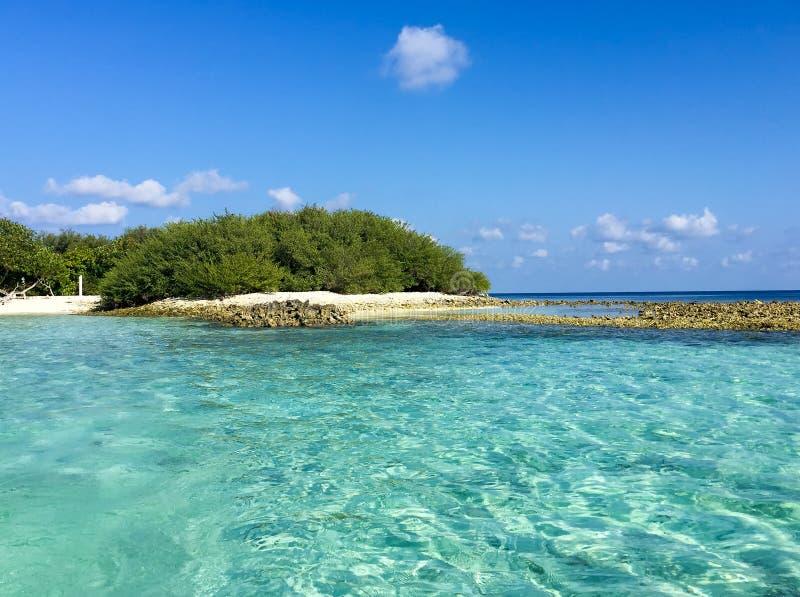 Beautiful panoramic view of Rasdhoo Island, Maldives.  stock photo