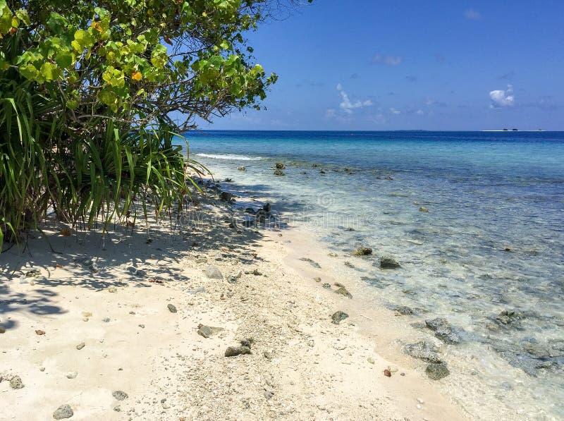 Beautiful panoramic view of Rasdhoo Island, Maldives.  royalty free stock image