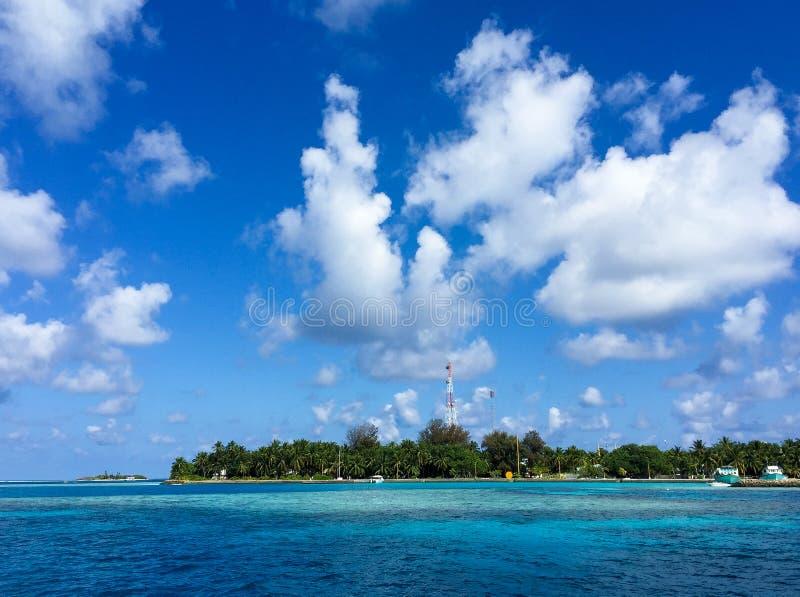 Beautiful panoramic view of Rasdhoo Island, Maldives.  royalty free stock photos